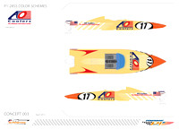 AO Coolers Boat Wrap Design